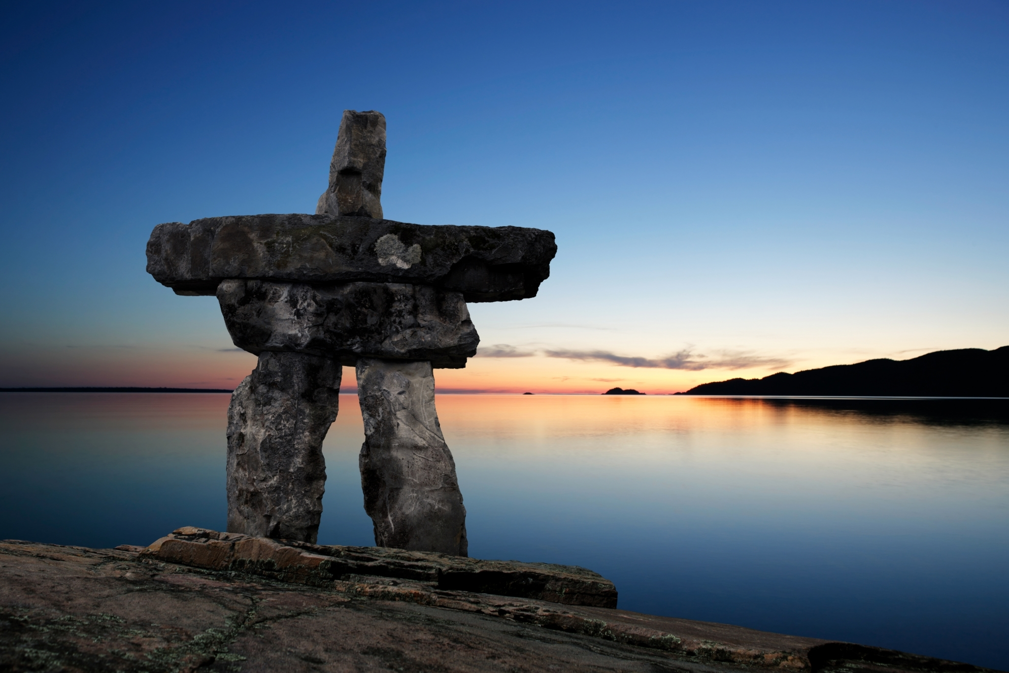 Inukshuk first nations indigenous Getty Images 184286414
